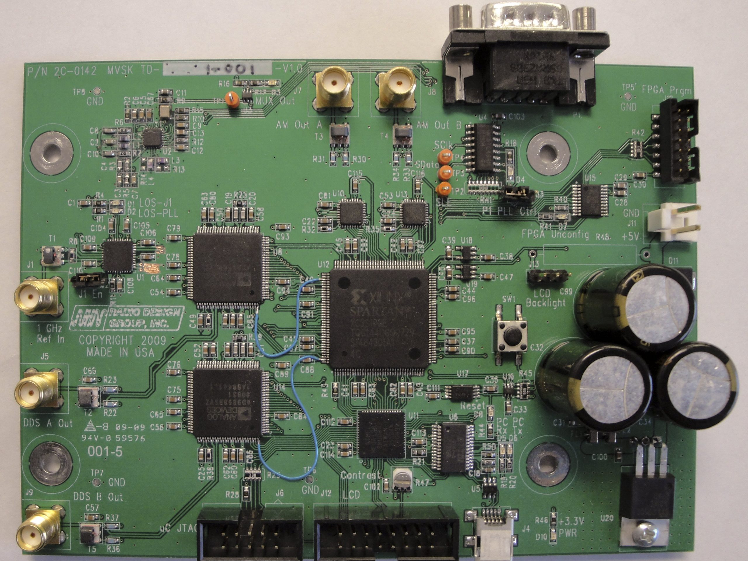 Advanced DDS MVSK test board